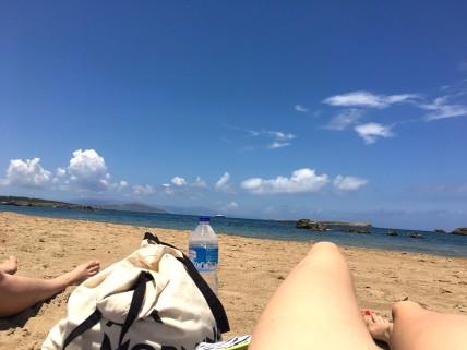 Klein knus strandje