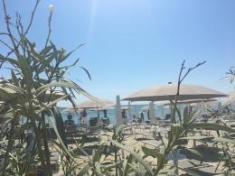 Uitzicht bij Caiman Beachclub