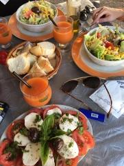 Salades en verse fruitsapjes in Marsala
